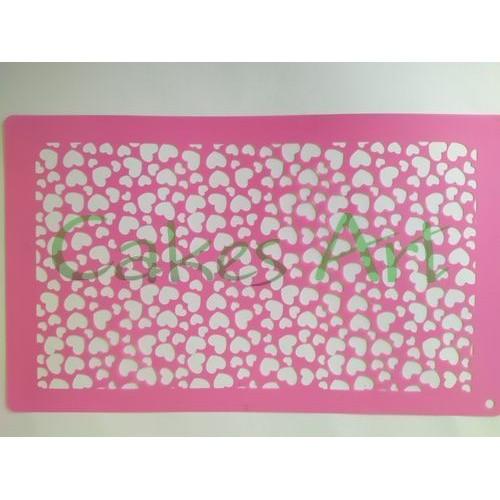 Трафарет для торта и пряников: Сердца 001