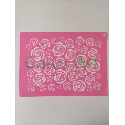 Трафарет для торта и пряников: Фоновый трафарет розы