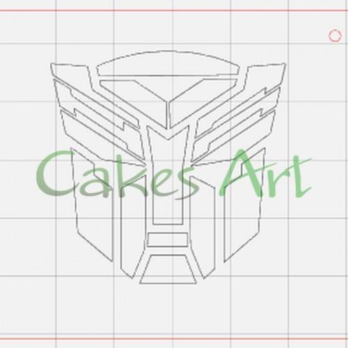 Трафарет для торта и пряников: Автоботы
