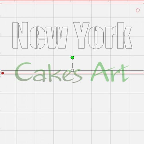 Трафарет для торта и пряников: New York