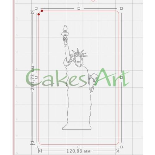 Трафарет для торта и пряников: Статуя свободы