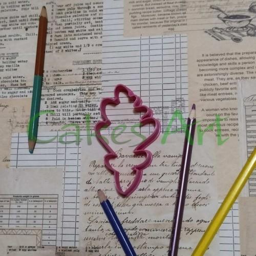 Вырубка для пряников: Дубовый лист новый 002