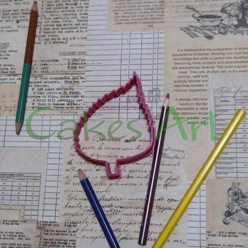 Вырубка для пряников: Лист березы 002