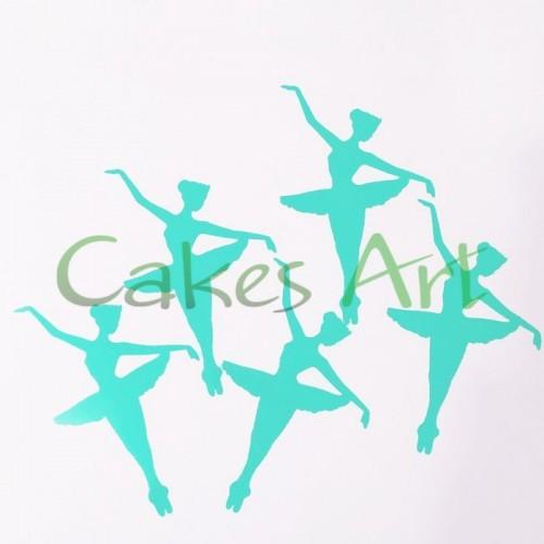 Трафарет для шоколада Балерина 5 шт