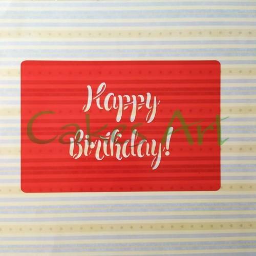 Трафарет для торта и пряников: Happy birhtday