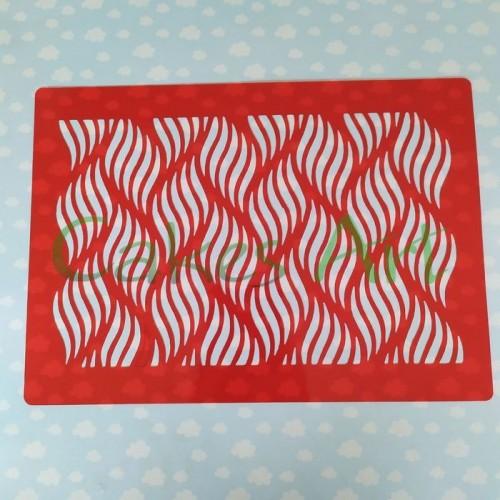 Трафарет для торта и пряников: Абстракция 001
