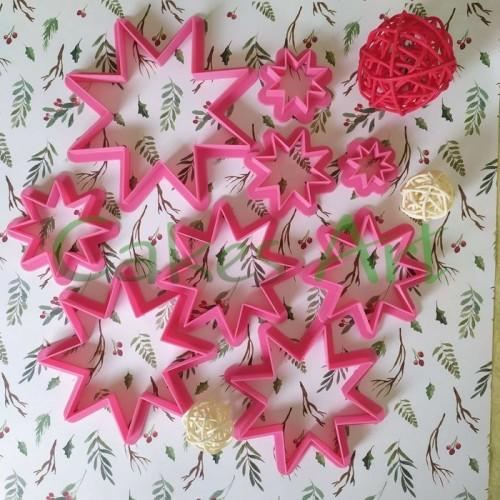 Набор форм для пряников: Звезды восьми угольные/ Елочка обьемная