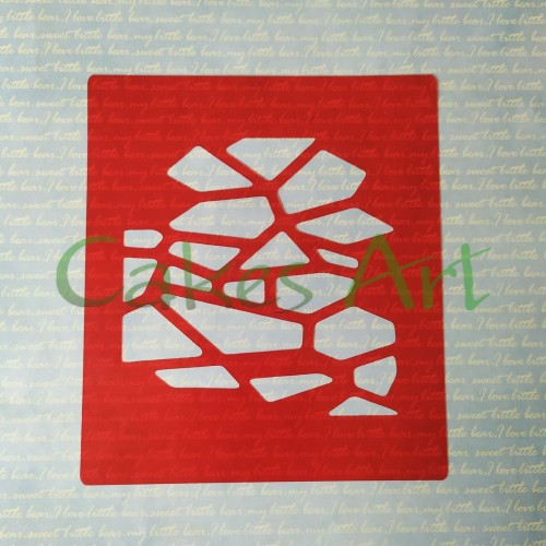 Трафарет для торта и пряников: Битые камни 002