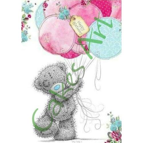 Вафельная сахарная картинка на торт Мишки Тедди 004