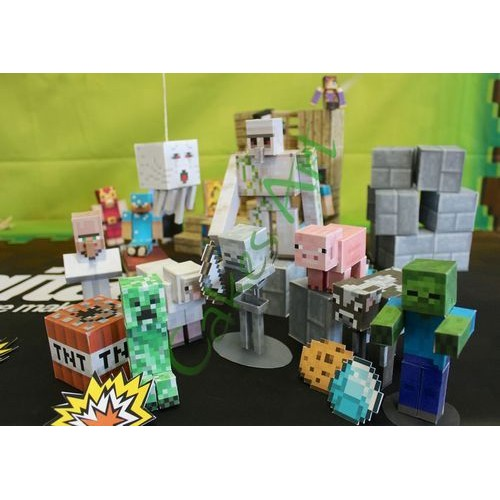 Вафельная сахарная картинка на торт Майнкрафт Minecraft 006