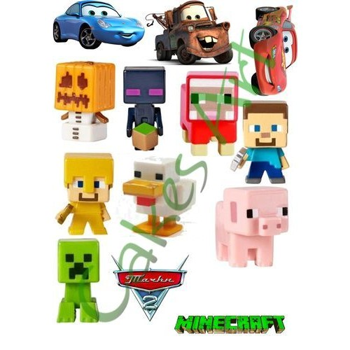 Вафельная сахарная картинка на торт Майнкрафт Minecraft 007