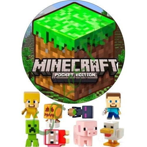 Вафельная сахарная картинка на торт Майнкрафт Minecraft 008