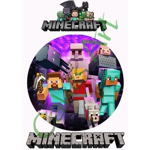 Вафельная сахарная картинка на торт Майнкрафт Minecraft 012