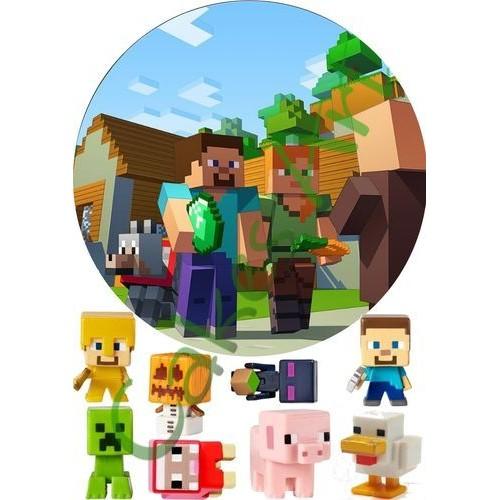Вафельная сахарная картинка на торт Майнкрафт Minecraft 013