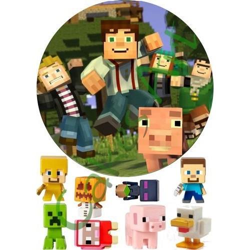 Вафельная сахарная картинка на торт Майнкрафт Minecraft 014