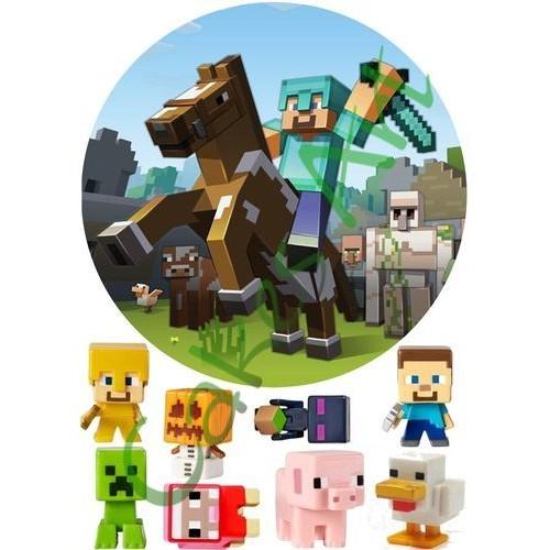 Вафельная сахарная картинка на торт Майнкрафт Minecraft 016