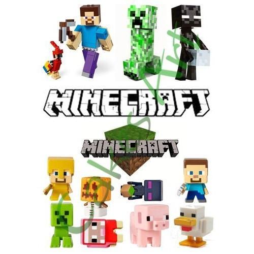 Вафельная сахарная картинка на торт Майнкрафт Minecraft 018