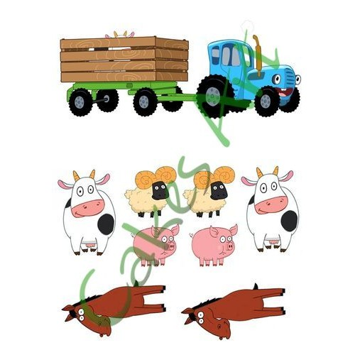 пищевая картинка для торта трактор представительской сети