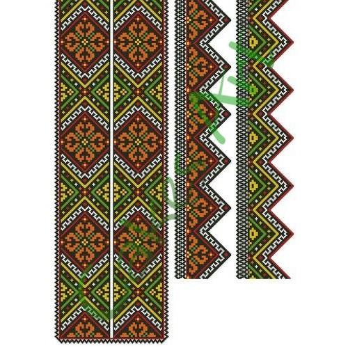 Вафельная сахарная картинка на торт Вышиванки Узоры Рушники 011
