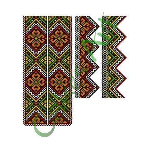 Вафельная сахарная картинка на торт Вышиванки Узоры Рушники 022