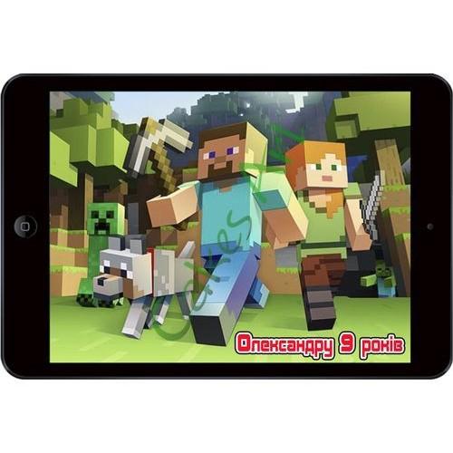 Вафельная сахарная картинка на торт iPad 001