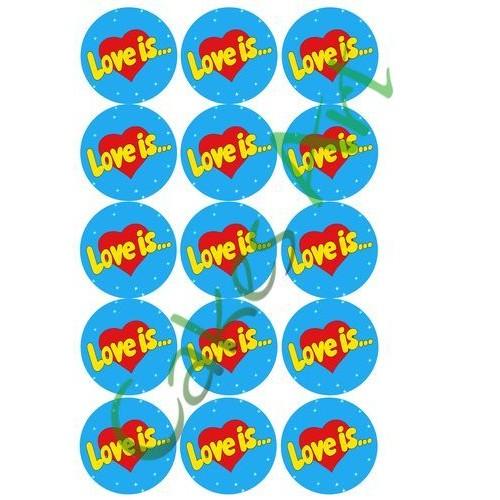 Вафельная сахарная картинка на торт Love is лав из 012