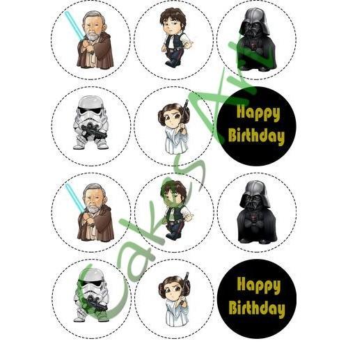 Вафельная сахарная картинка на торт Звездные войны Star Wars 002