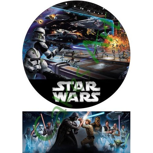 Вафельная сахарная картинка на торт Звездные войны Star Wars 003