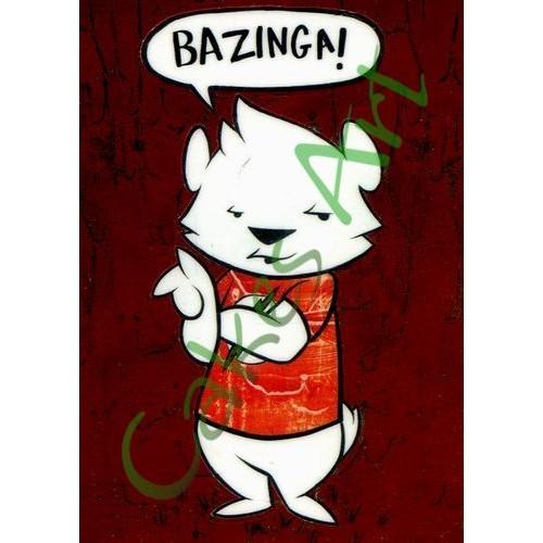 Вафельная сахарная картинка на торт Теория Большого взрыва Bazinga Big Bang Theory 001