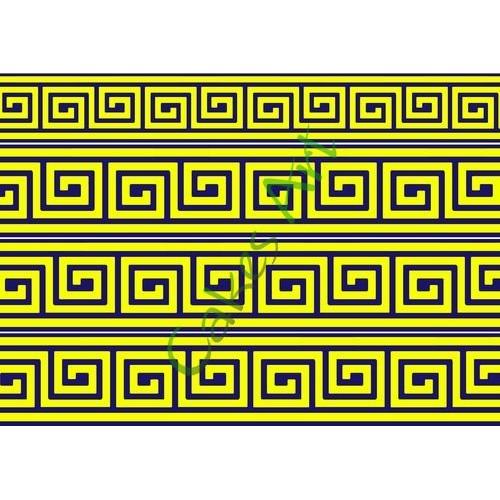 Вафельная сахарная картинка на торт Греческий орнамент 001