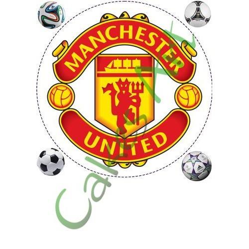 Вафельная сахарная картинка на торт Футбол ФК Манчестер Юнайтед 002