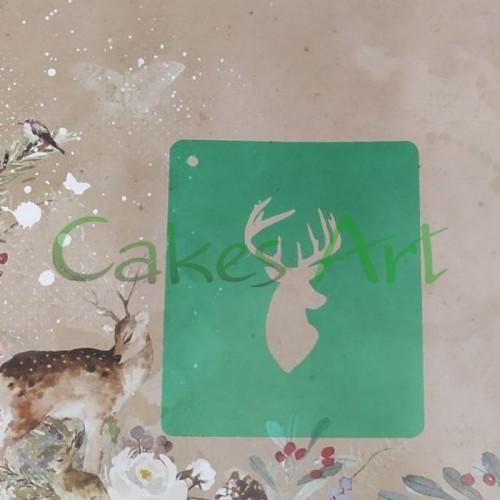 Трафарет для торта и пряников: Силуэт Олень