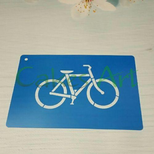 Трафарет для торта и пряников: Велосипед 001