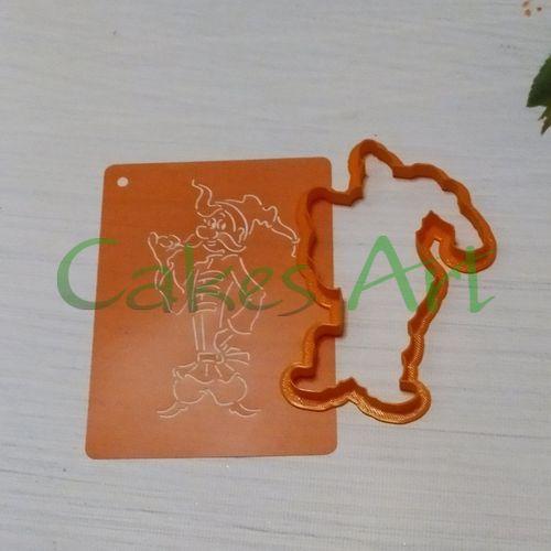 Набор для пряников вырубка + трафарет: Козак Грай 002