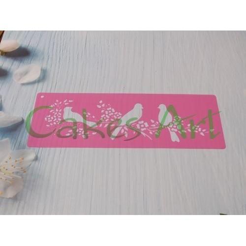 Трафарет для торта и пряников: Птички 001