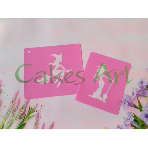 Трафарет для торта и пряников: Ведьмы набор 2 шт