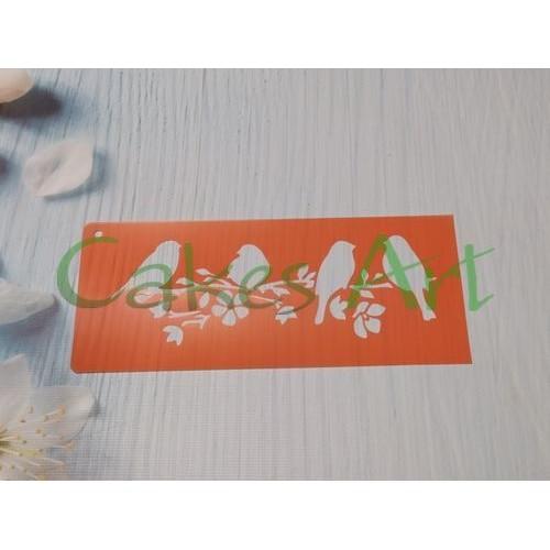 Трафарет для торта и пряников: Птички 002