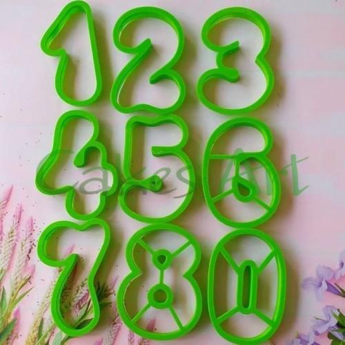 Вырубка для пряников: Цифры набор 9 шт ( 10 см)