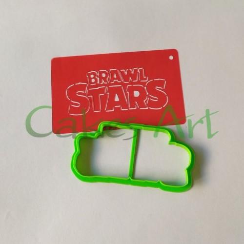 Набор для пряников вырубка + трафарет: Brawl Stars Надпись