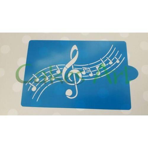 Трафарет для торта и пряников: Ноты