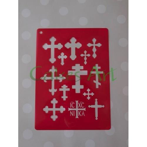 Трафарет для торта и пряников: Кресты