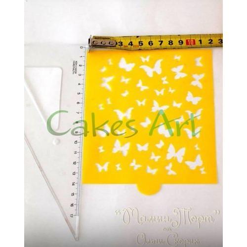 Трафарет для торта и пряников: Бабочки