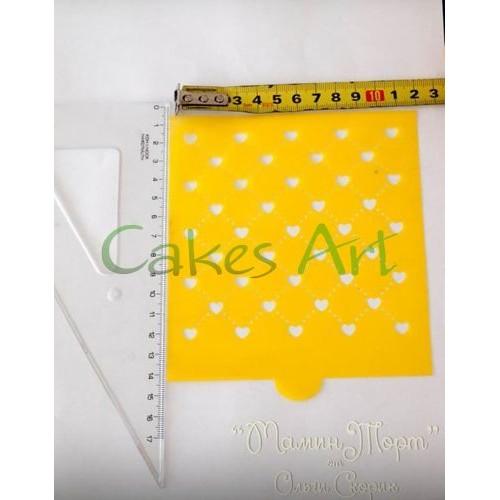 Трафарет для торта и пряников: Сердечки