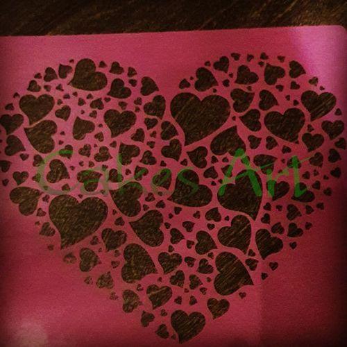 Трафарет для торта и пряников: Сердце