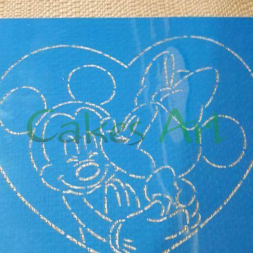 Трафарет для торта и пряников: Мики и Мини маус