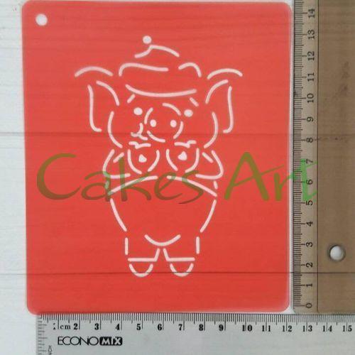 Набор для пряников вырубка + трафарет: Свинка в варюшках №1