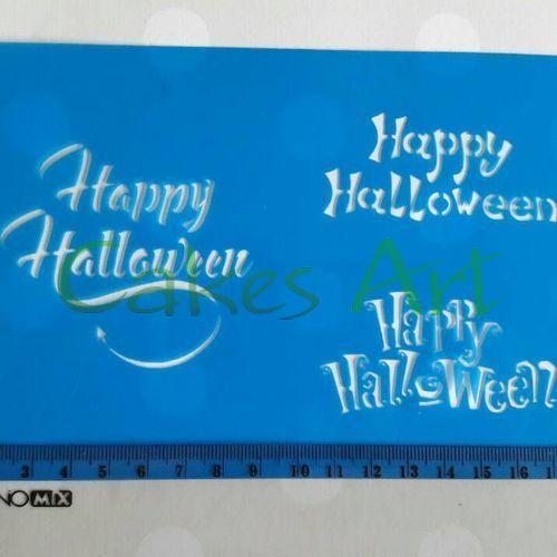 Трафарет для торта и пряников: Хеллоуин надписи 2