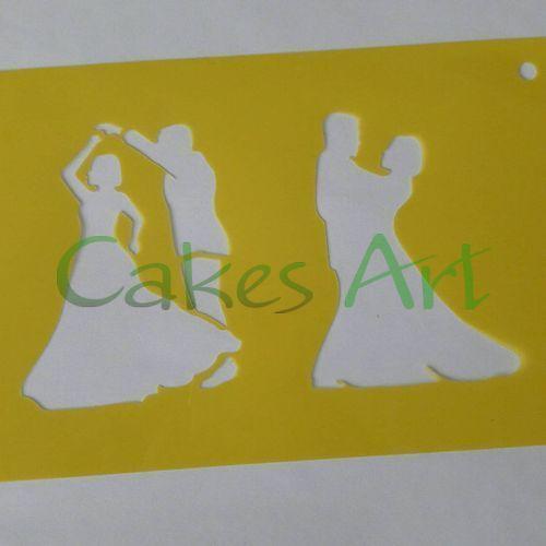 Трафарет для торта и пряников: Силует Молодожены