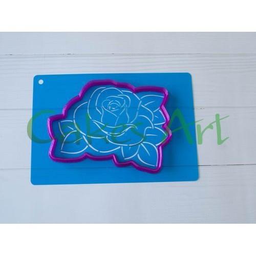 Набор для пряников вырубка + трафарет: Роза