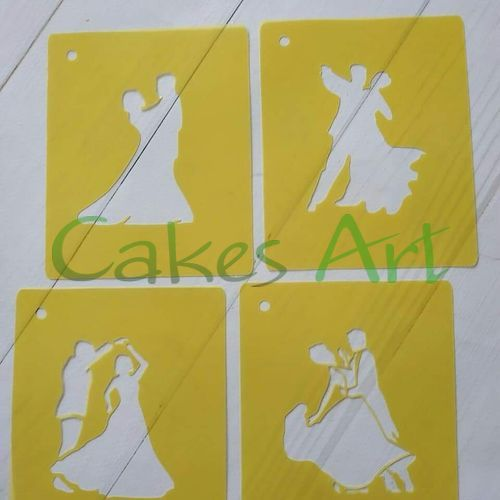 Трафарет для торта и пряников: Танец 4 вида высота 6.5 см